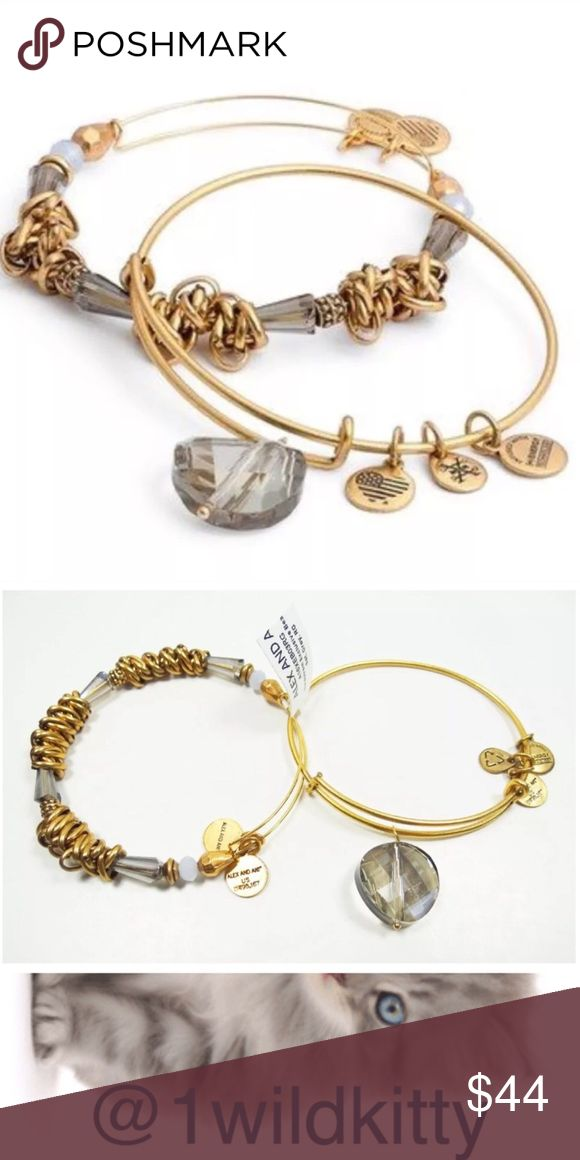 Alex and Ani Nordstrom Exclusive Beaded Set of 2 Alex and Ani Nordstrom Exclusive Beaded Set of 2  Alex and Ani Beaded Set of 2 bangles - sold exclusively at Nordstrom. Rafaelian Gold finish. The set comes with two bracelets 1. Plain wire bangle with a dramatic large round shiny stone. 2. Beaded bangle with swirly linked chains with pale lavender tone beads. 1 set available - New with tags! Retail $88.00 Alex & Ani Jewelry Bracelets