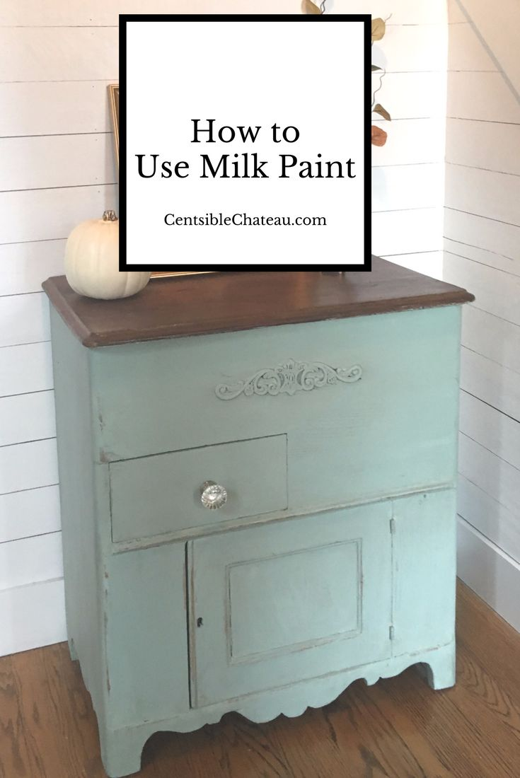 Painting Furniture with Milk Paint will give you the Chippy Finish everyone loves about Farmhouse style. Here's a step by step guide on how to use it.