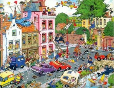 Cartoon Jigsaw Puzzles are very popular right now. We have lots of fun images from Jan Van Haasteren, Francois Ruyer, RJ Crisp and more...