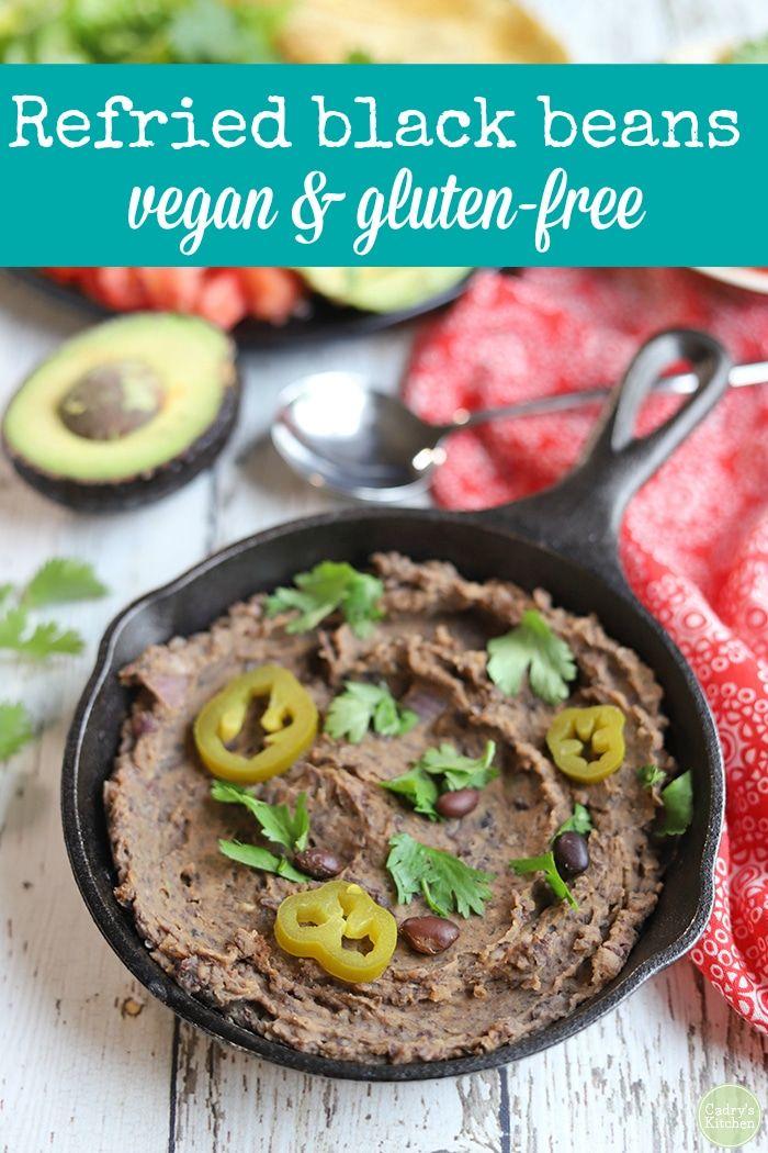 Refried Black Beans Vegan Gluten Free