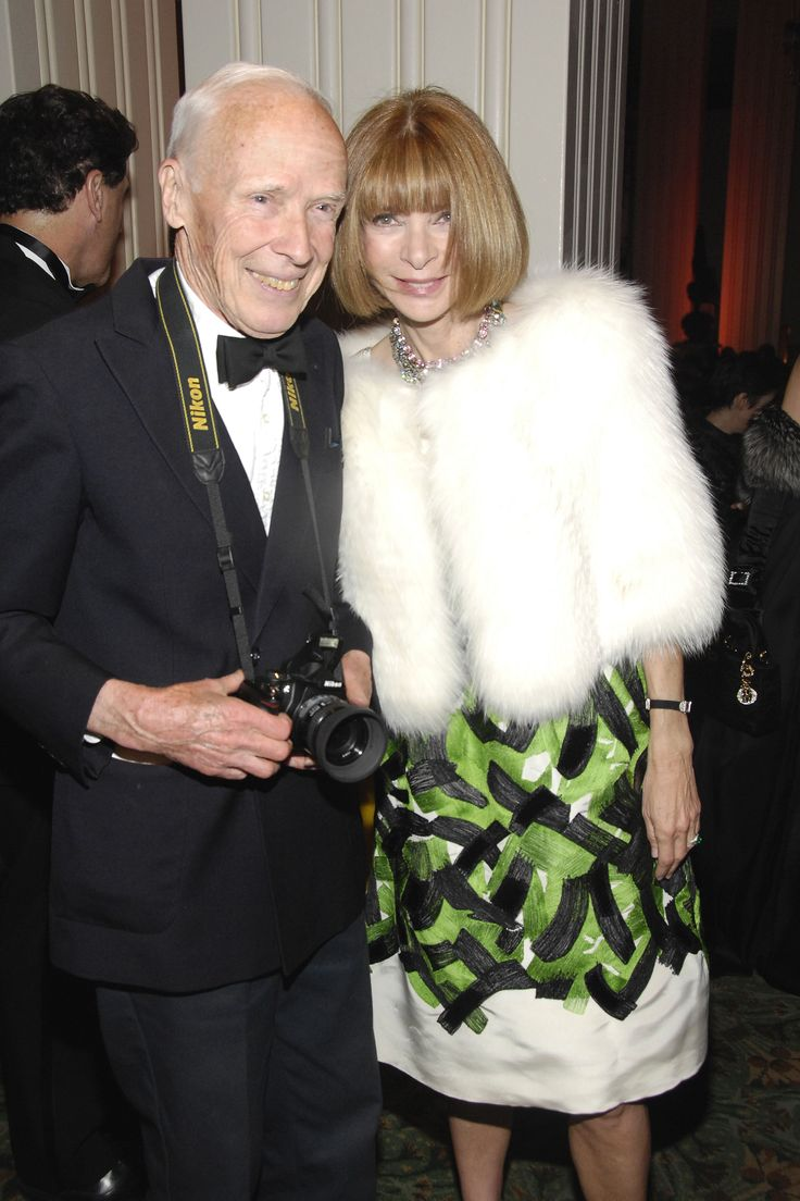 Bill Cunningham and Anna Wintour