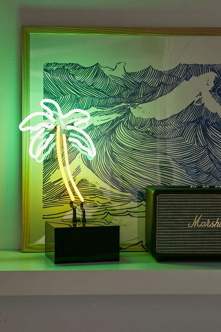 Neon Mfg. Palm Tree Table Lamp - Urban Outfitters