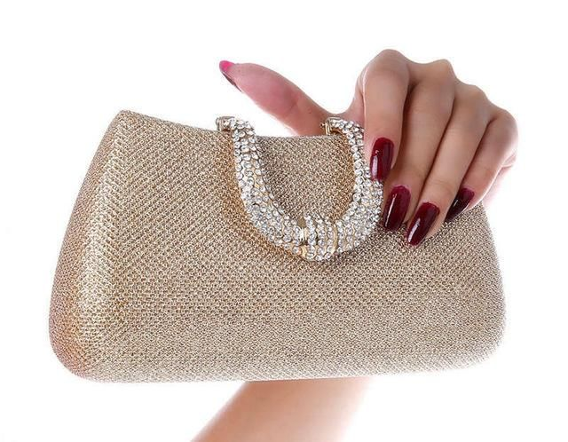 Luxy Moon women crystal U Diamond clasp clutch bags glitter silver evening  bags gold clutch party purse woman handbag 1820 8585ab8d96f2
