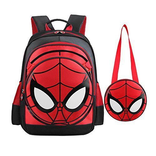 Boys' Backpack Spiderman Fans Gift Waterproof Comic School Bag With Lunch Kit (One Size, Spiderman black). #Boys' #Backpack #Spiderman #Fans #Gift #Waterproof #Comic #School #With #Lunch #(One #Size, #black)