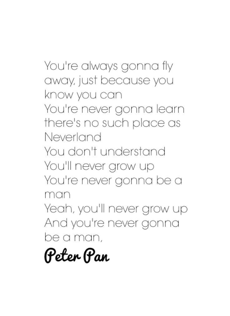 Peter Pan- Kelsea Ballerini