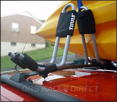 kayak+racks | ... hhr ss roof rack  kayak racks / thule 835xtr j-cradle kayak carriers