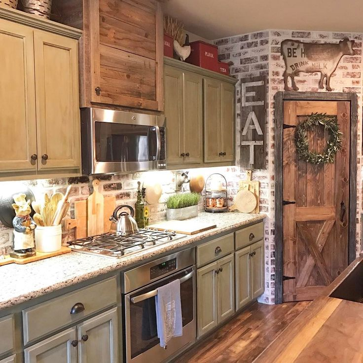 Farmhouse Kitchen Ideas Farmhouse Kitchen Decor Oak: 25+ Best Ideas About Farmhouse Kitchen Cabinets On Pinterest