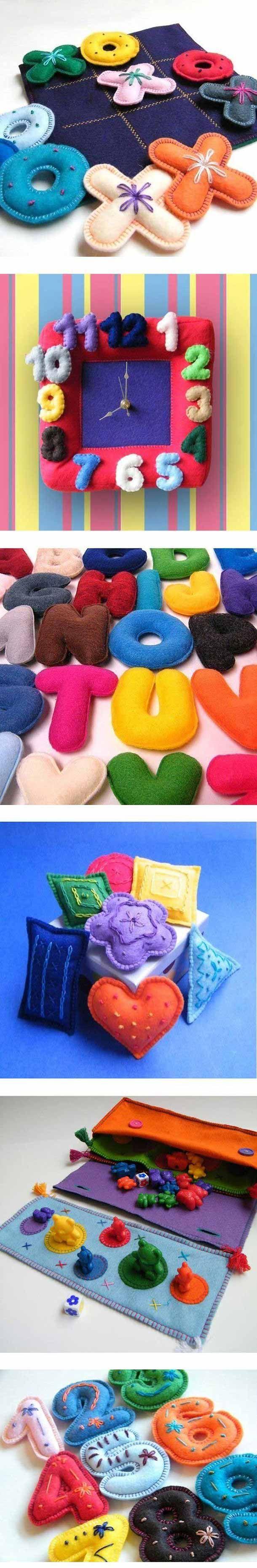 30 Brinquedos de Feltro e Tecido Educativos para Bebês!