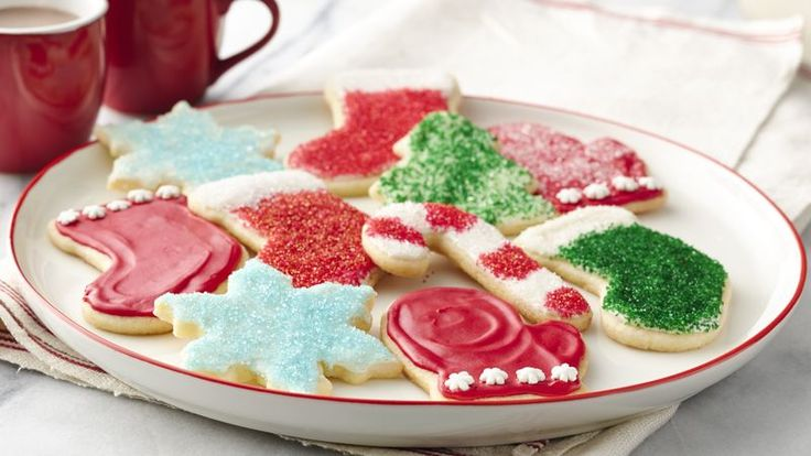 These shortcut sugar cookie cutouts get a five-star finish with a classic icing made with powdered sugar, milk and vanilla.