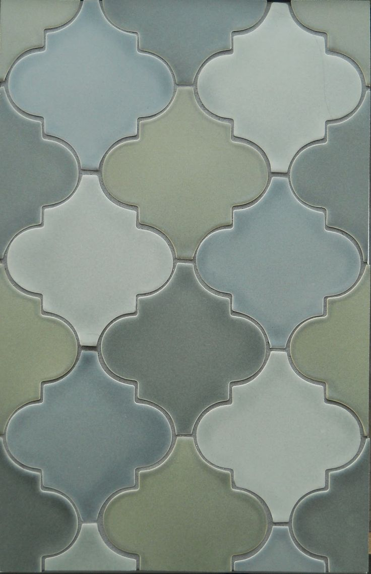 arabesque tile beautiful in a single color or mix up a blend of your own - Arabesque Tile Backsplash