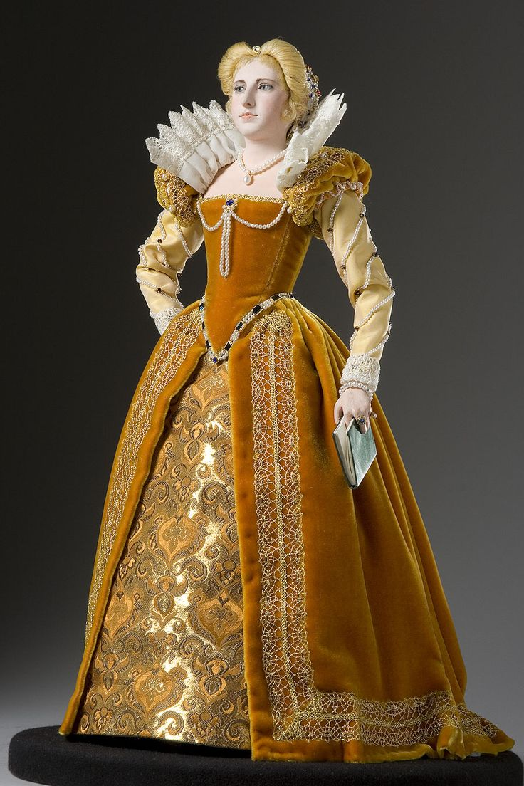 Marguerite de Valois figurine               Marguerite de Valois is shown wearing a velvet gown with a huge neckline ruff in this George Stuat figurine.