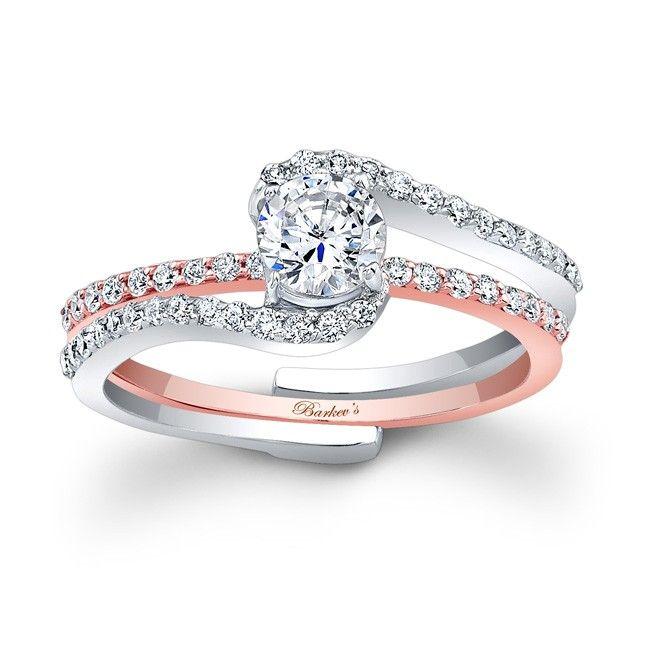 barkevs 7907stw rose gold bridal set i dont normally like bridal sets