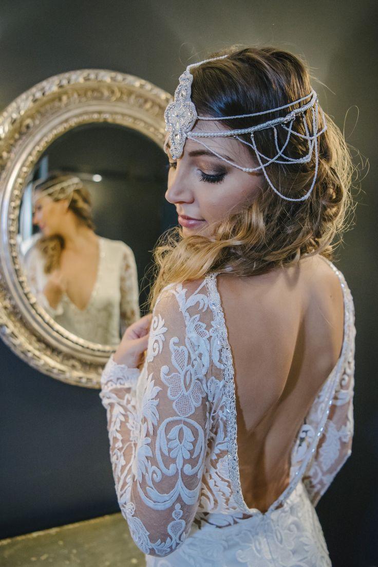 The Mon Cherie gown with head piece from The Little Pack of Five