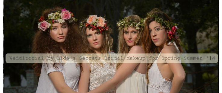 Our proposal for bridal makeup for the Spring-Summer 2014 Inspiration: Boho-Earth Makeup: Lida's Secrets