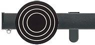 Silent Gliss Metroflat 36mm, 6100 Curtain Track, Gun Metal, Vega Circle Midial