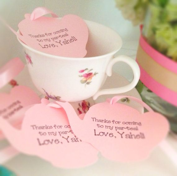 Tea party favor tags garden party favor by TakeitPersonallybyM, $12.00