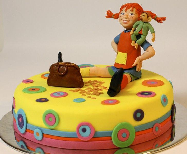 baka dekorera bakverk inspiration kaka Tårta pippi långstrump Bake cake
