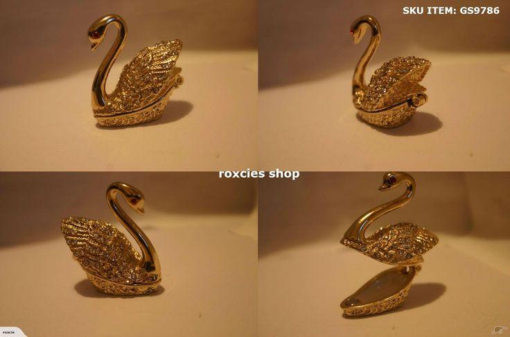 Faberge Golden Swan Trinket Box-  Faberge fabulous