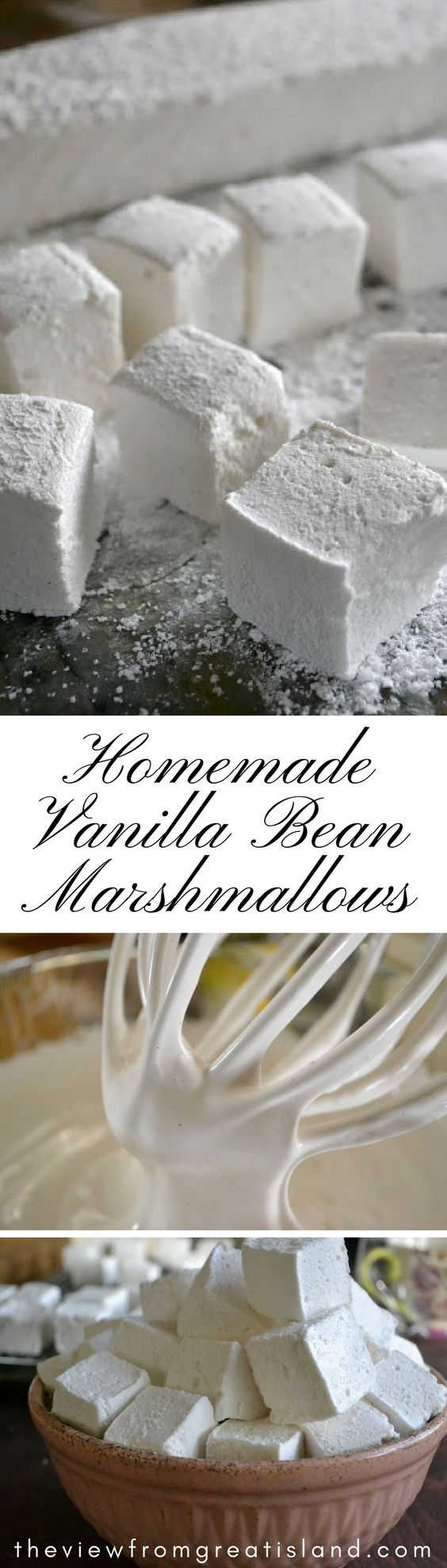 Homemade Vanilla Bean Marshmallows ~ these plush, pillowy marshmallows are amazing, and so easy to make. They'll take your hot cocoa to a whole new level! I will try to find a replacement for the corn syrup. I can replace the vegetable oil with coconut oil.
