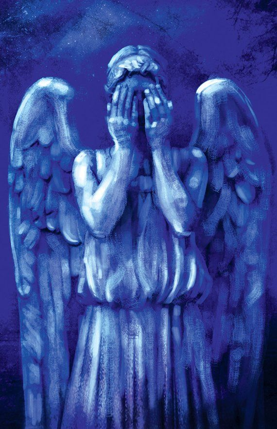 Weeping Angel Don T Blink Doctor Who David Tennant Matt Smith 11x17 Print Signed By Barry Sachs Doctor Who Art Weeping Angel Doctor Who