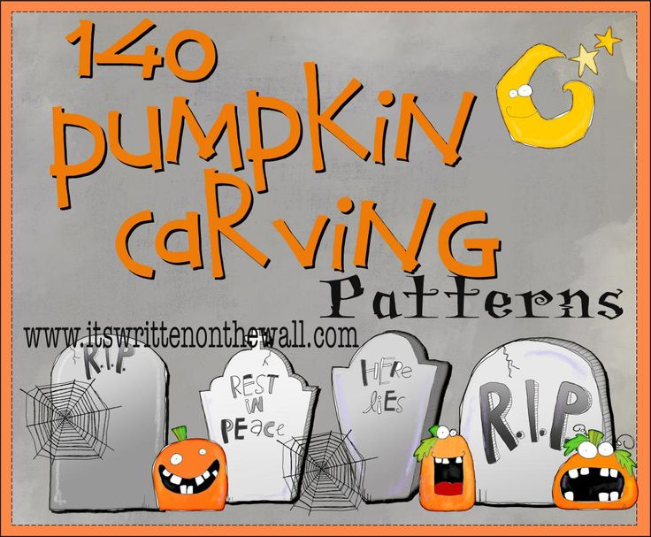 It's Written on the Wall: (At least) 140 FREE Halloween Pumpkin Carving Patterns