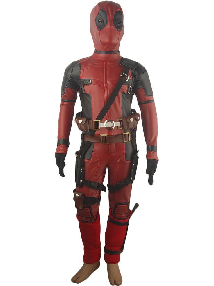 Kids Boys Movie X-Men Deadpool Cosplay Wade Wilson Battleframe Full Set Deluxe Halloween Costume Comic-con