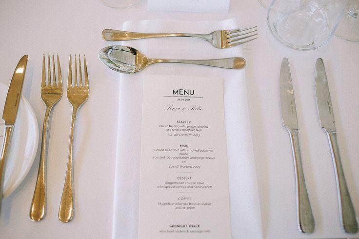 simply white menu