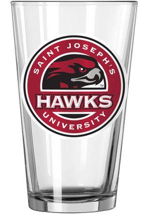 Saint Josephs Hawks Logo Value Pint Glass