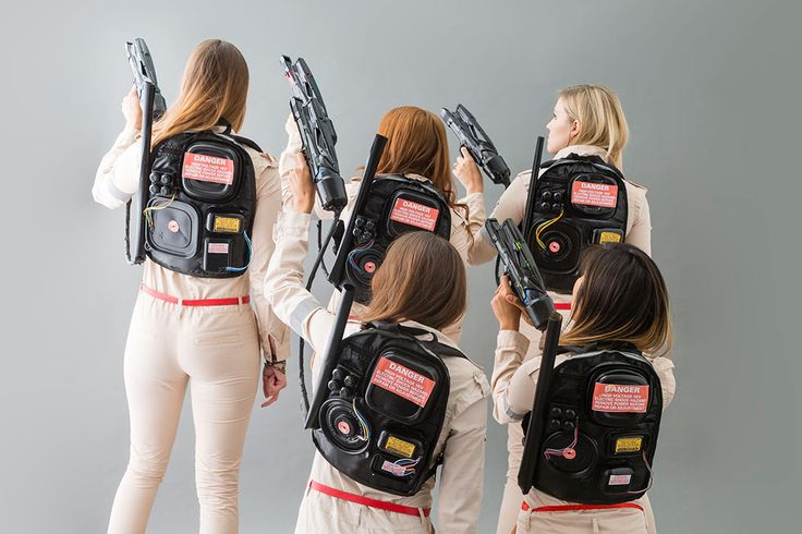 Save this DIY group Halloween costume idea to turn your squad into Ghostbusters.
