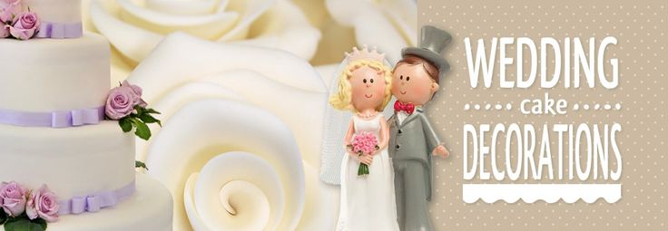Wedding cake figures and decorations from Bath Cake Company.