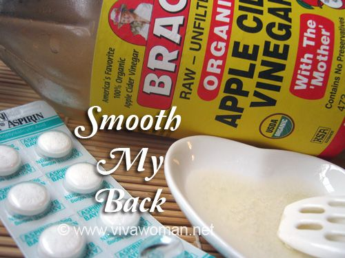DIY recipe for back acne:   one aspirin, crushed.  - one capful of apple cider vinegar  - one capful of water  Mix together, use cotton pad to apply to affected area. Leave on for 20 minutes then wash off.