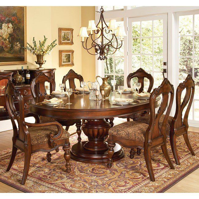 Prenzo Pedestal Dining Room Set Round Dining Room Sets Classic