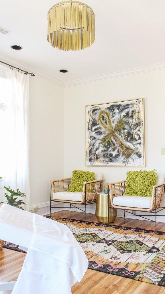 Esthetician Treatment Room Decor Client Reveal Blogger Home