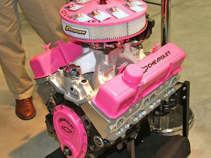 Ahhh my friend just shared this on my fb!!! I want this super bad!!!! Or at least paint my 5.3 like it!!!! #love #gearhead #pink #pinkmotor #formysilverado #hellyeah