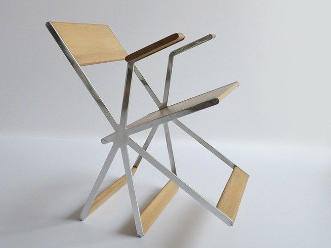 Metal rocking chair with armrests TRIPATTE by DIFFERENT AND DIFFERENT | design Different and Different