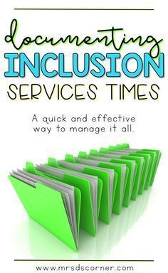 SPED Inclusion Documentation Forms