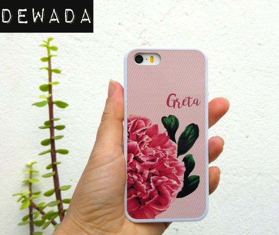 floral iPhone 7 case pink rose iPhone 7 cover by DeWadaSTORE