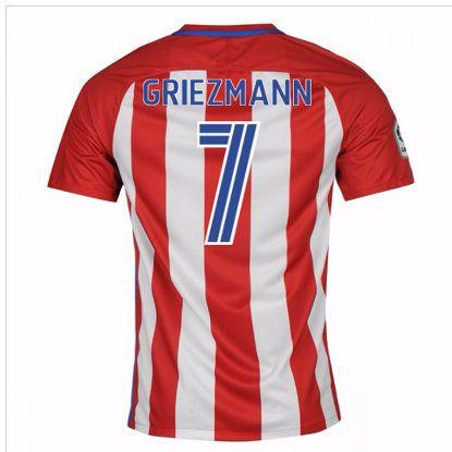 Primera Equipacion Camiseta Atletico de Madrid Griezmann 2016-2017