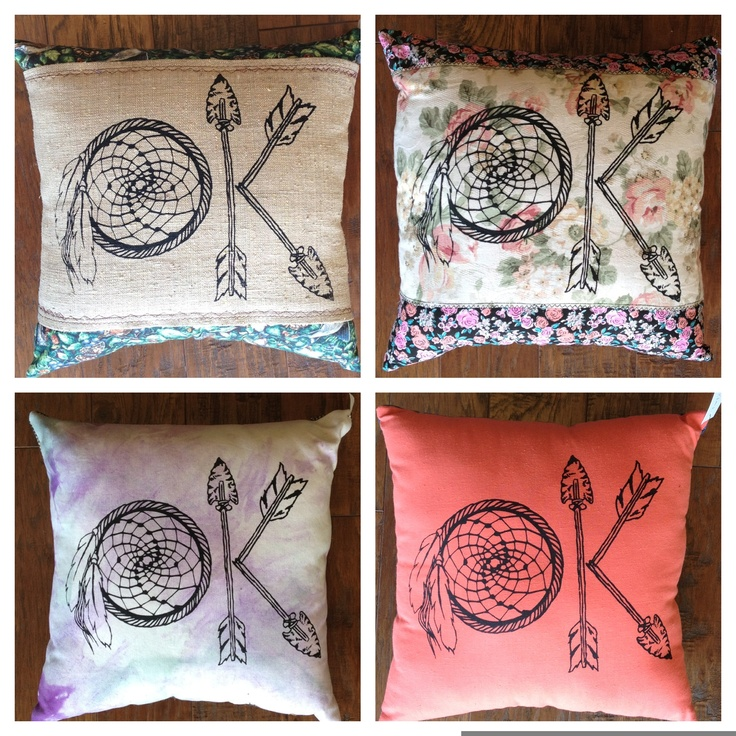 "Native ""OK"" Pillows $29  www.jlillysboutique.com"