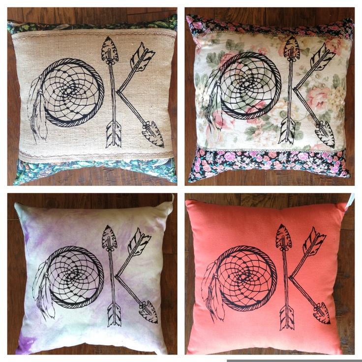 "Native ""OK"" Pillows $29  www.jlillysboutique.com"