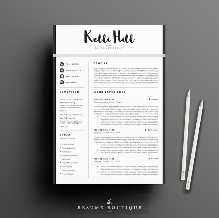 50 best resume cv layouts images on pinterest resume cv