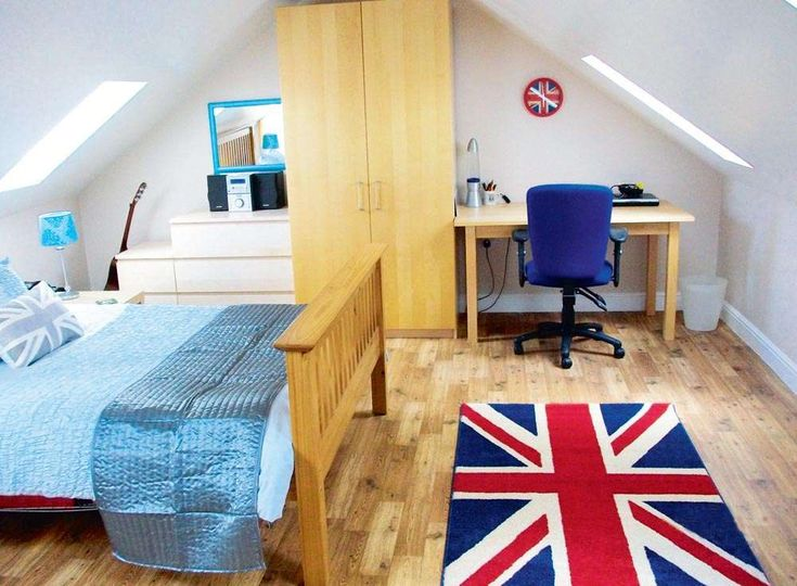 John and Linda Johnson converted the loft above their attached double garage in Madeley, Cheshire, to create a new bedroom and bathroom for their son Richard. #loft #conversion