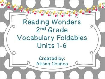 Reading Wonders 2nd Grade Vocabulary Foldables