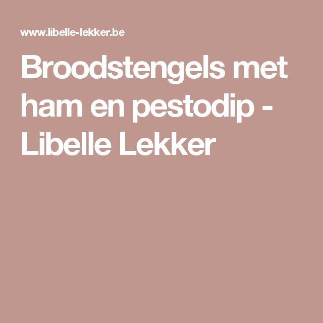Broodstengels met ham en pestodip - Libelle Lekker