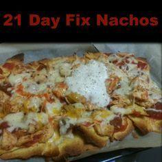 21 day fix nachos 1 yellow 1 red 1 blue 1/2 purple