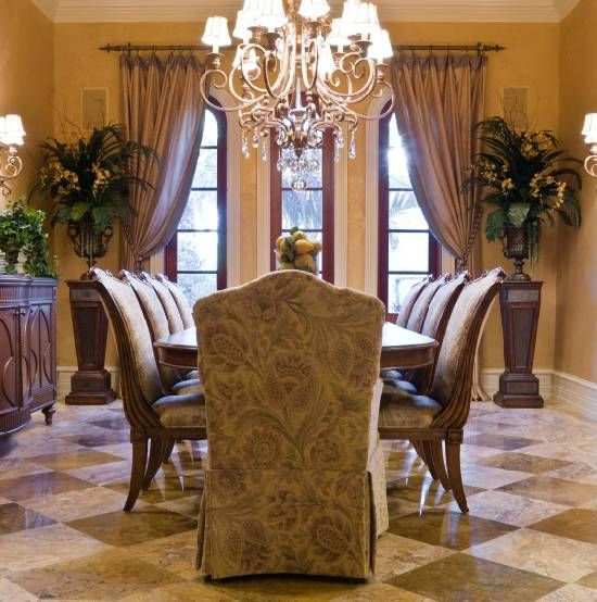 25 best ideas about elegant curtains on pinterest girls for Formal dining room centerpiece ideas