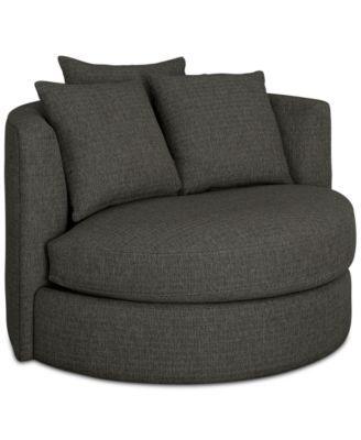 Mylie Fabric Swivel Chair Created For Macy S Macys Com
