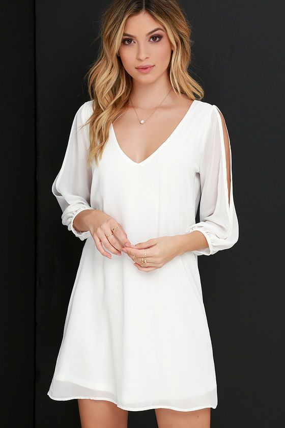 25  best ideas about White dress casual on Pinterest | White dress ...