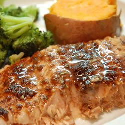 """Balsamic-Glazed Salmon Fillets 