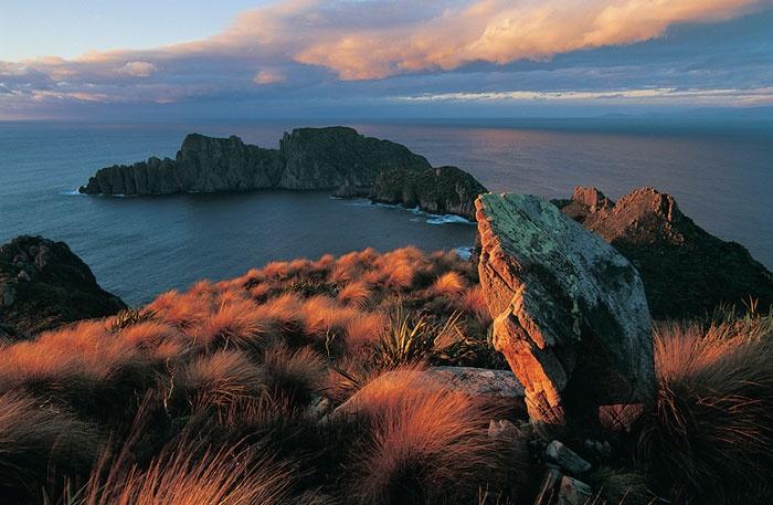 Epic sunset on #StewartIsland #New Zealand